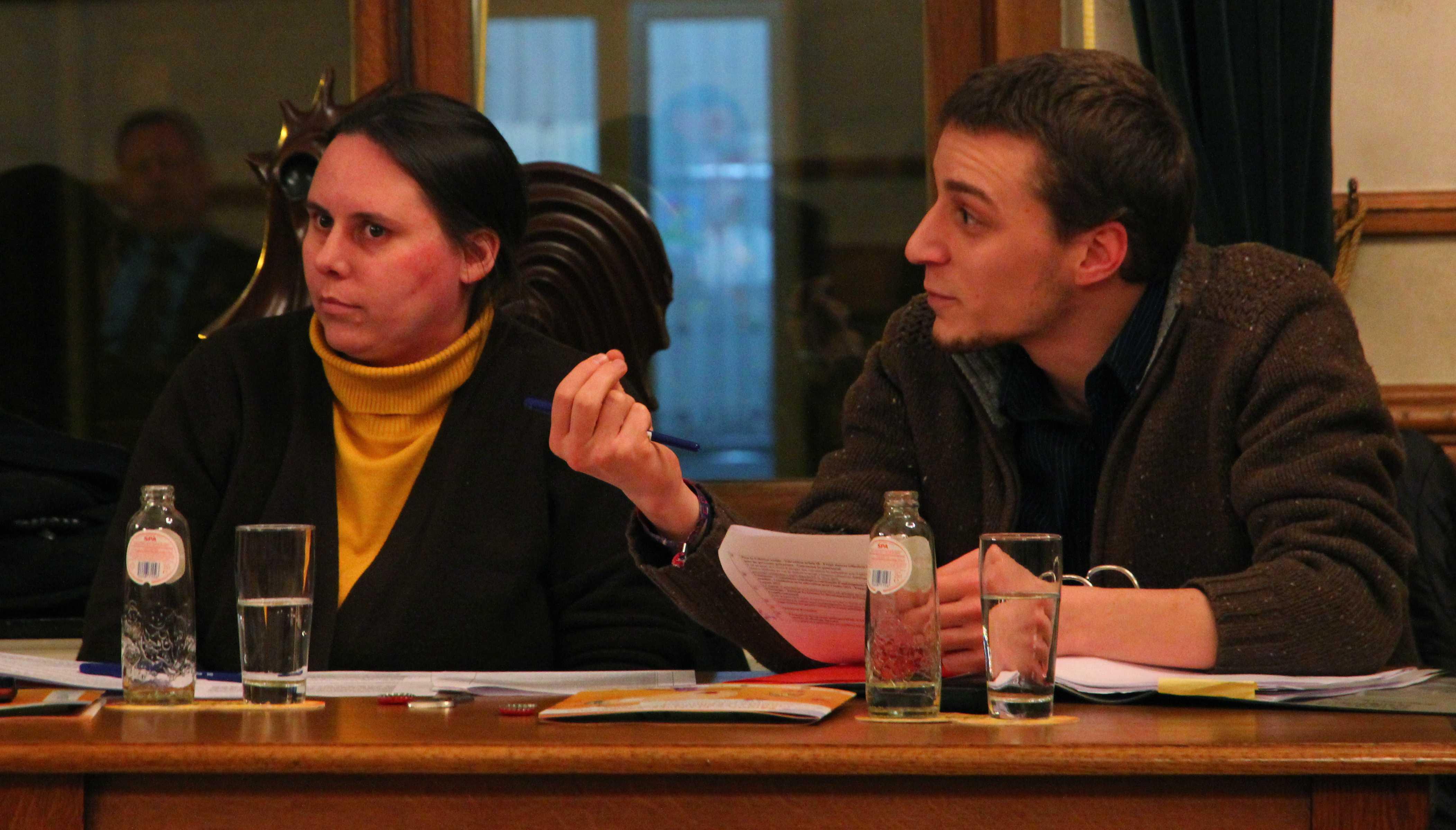 Christelle Surquin et Marc Magnery défendent le point de vue ECOLO au Conseil communal de Dison