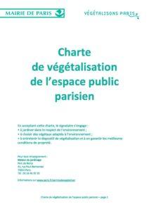 Charte de végétalisation